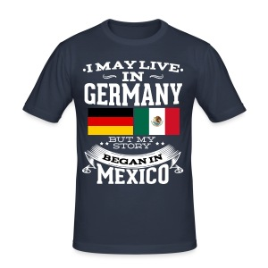 Mexican In Germany - Männer Slim Fit T-Shirt