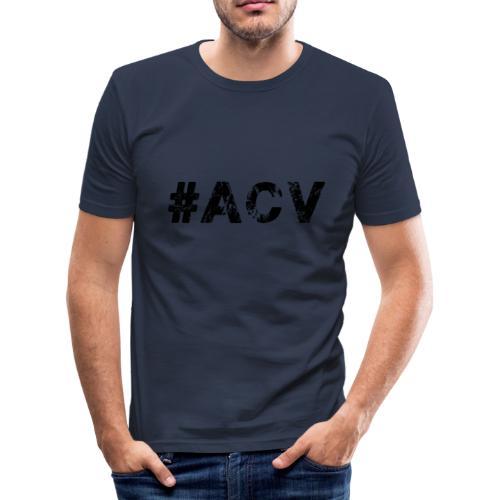 #ACV Logo - Männer Slim Fit T-Shirt