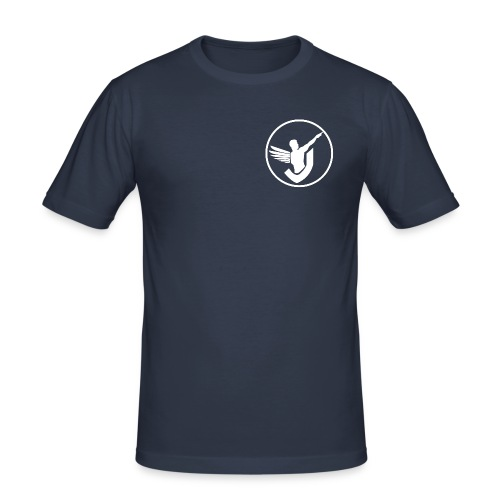 Everywhere Fitness (white logo) - Männer Slim Fit T-Shirt