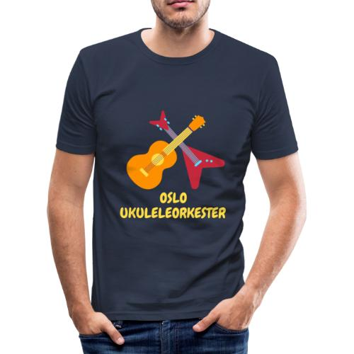 Oslo Ukuleleorkester - Slim Fit T-skjorte for menn