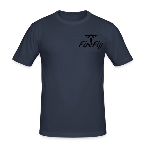 FireFly Logo - Men's Slim Fit T-Shirt