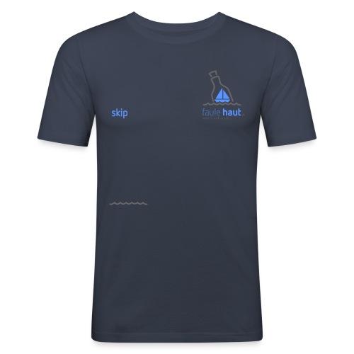 Logo ChestSkip dark - Männer Slim Fit T-Shirt