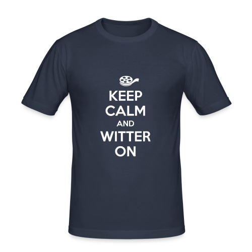 Keep calm and witter on - Männer Slim Fit T-Shirt