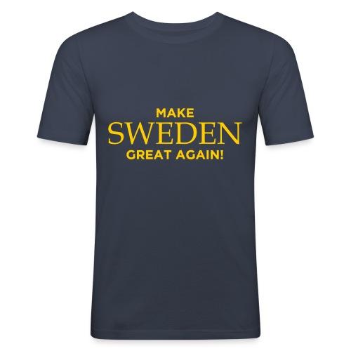 Make Sweden Great Again! - Slim Fit T-shirt herr