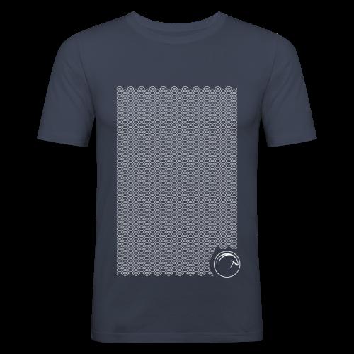 Ocean Oryx verticale Bianco - Maglietta aderente da uomo