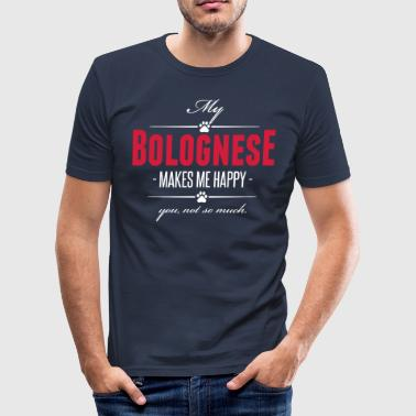 My Bolognese makes me happy - Männer Slim Fit T-Shirt