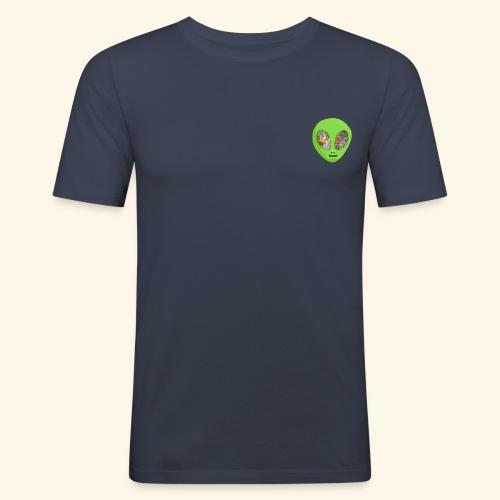 Alien hoofd 1 - slim fit T-shirt