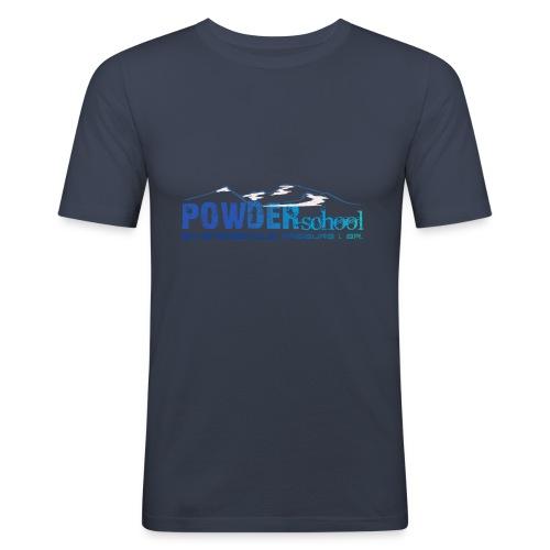 POWDERschool T-Shirt blau - Männer Slim Fit T-Shirt