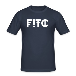 Fire In The City Logo - Men's Slim Fit T-Shirt