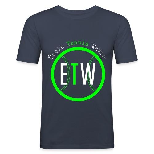 logo rond tennis vert - T-shirt près du corps Homme