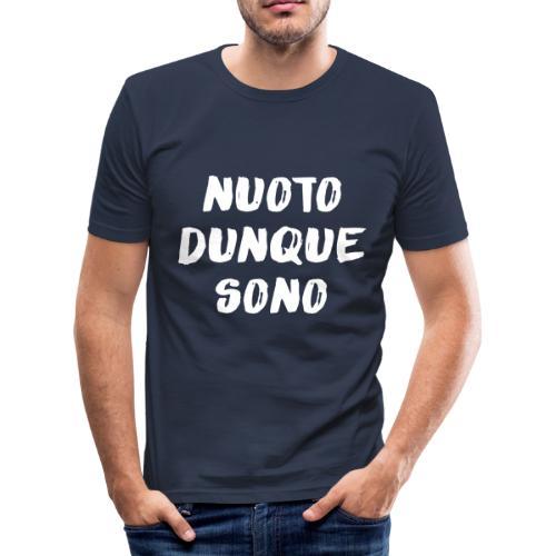 NUOTO DUNQUE SONO - Maglietta aderente da uomo