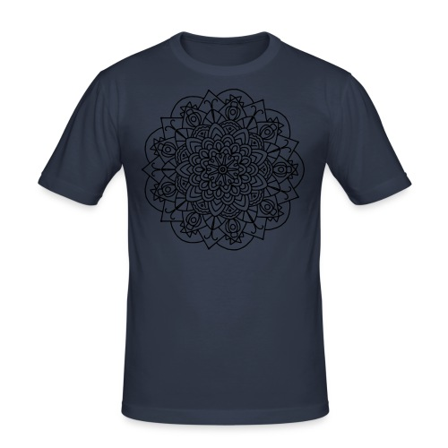 Beetle Mandala - Men's Slim Fit T-Shirt