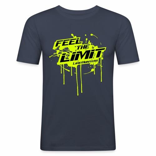 Feel the Limit - Splash edition NEON - Männer Slim Fit T-Shirt