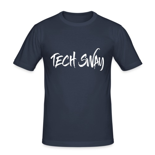 TechSwayWhiteLogo - Men's Slim Fit T-Shirt