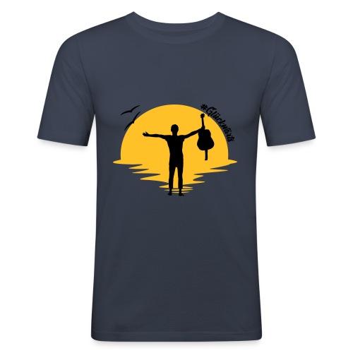 #Glückwärts Beach Edition - Männer Slim Fit T-Shirt