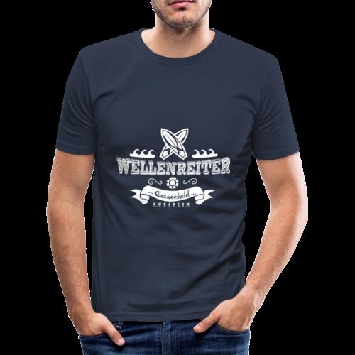 Geweihbaer Wellenreiter - Männer Slim Fit T-Shirt
