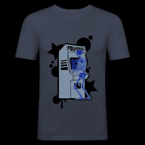 Hi-Score Silver X-ray - Obcisła koszulka męska