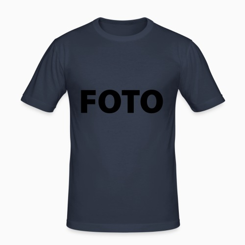 FOTO (Vitt tryck) - Slim Fit T-shirt herr