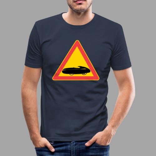 Traffic sign velomobile - Miesten tyköistuva t-paita