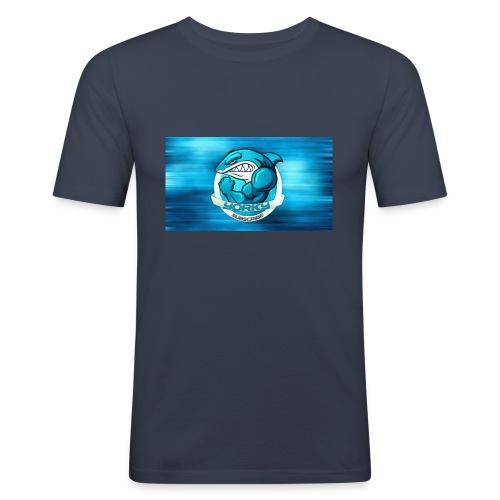 Shark_logo - Maglietta aderente da uomo