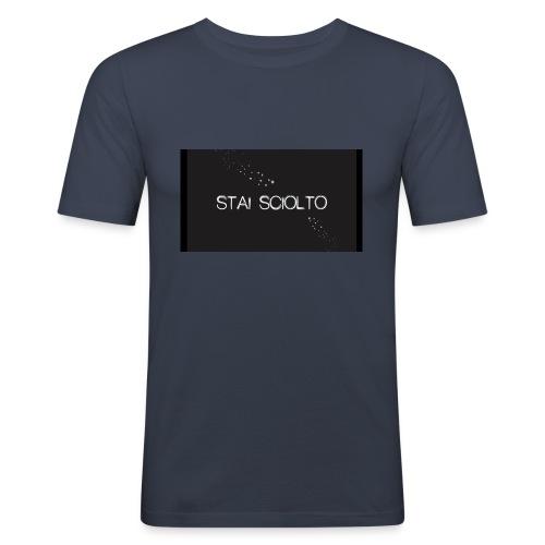 stc - Maglietta aderente da uomo