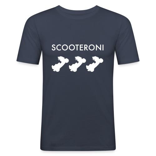 T-shirt SCOOTERONI WHITE - Maglietta aderente da uomo