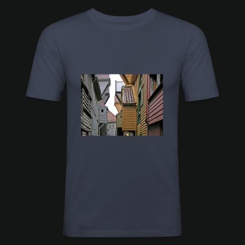 Brygen i Bergen - Slim Fit T-skjorte for menn