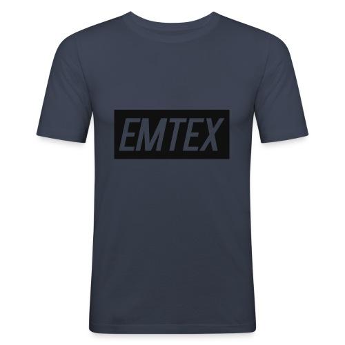 emtexshirtlogo - Herre Slim Fit T-Shirt