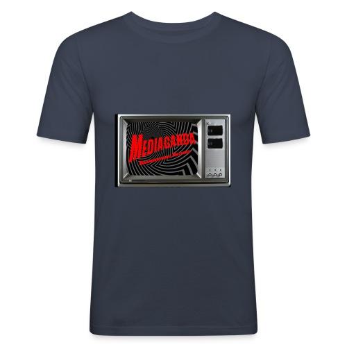 Mediaganda Logo - Männer Slim Fit T-Shirt