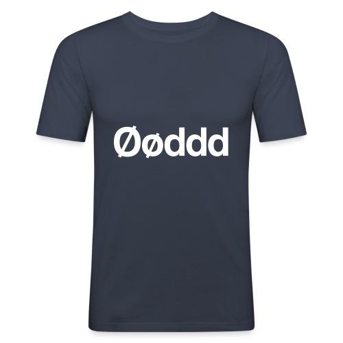 Øøddd (hvid skrift) - Herre Slim Fit T-Shirt