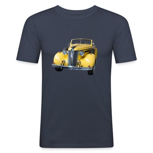 Gele klassieke auto1920 - slim fit T-shirt