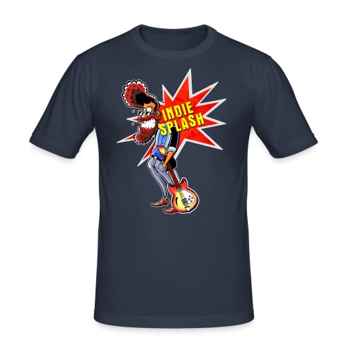 Indie Splash - Männer Slim Fit T-Shirt