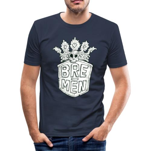 Bre-Men Abenteuer black & white - Männer Slim Fit T-Shirt