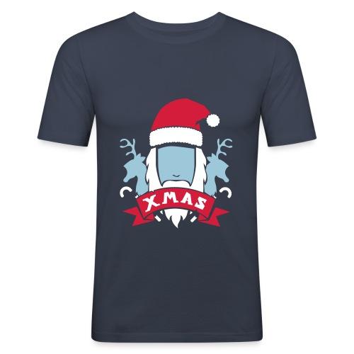 Weihnachtswappen - Männer Slim Fit T-Shirt