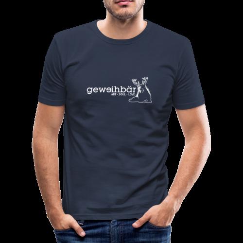 geweihbär - weiss - Männer Slim Fit T-Shirt