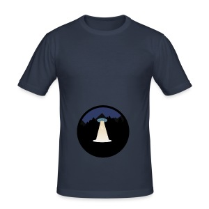 UFO beaming up a deer - slim fit T-shirt