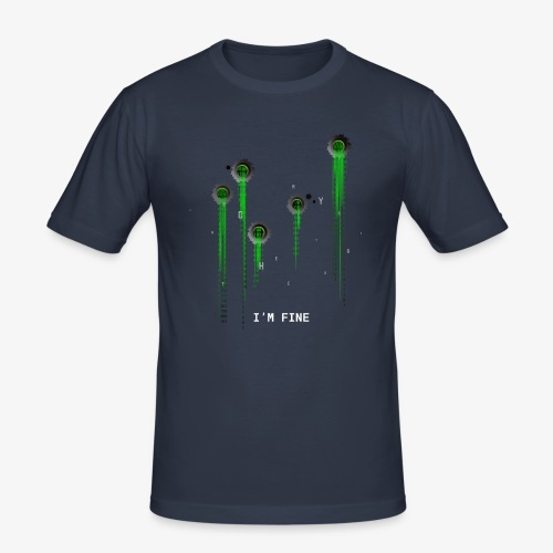 I'm fine | Matrix | Web | Geek | Bullet wounds - Men's Slim Fit T-Shirt