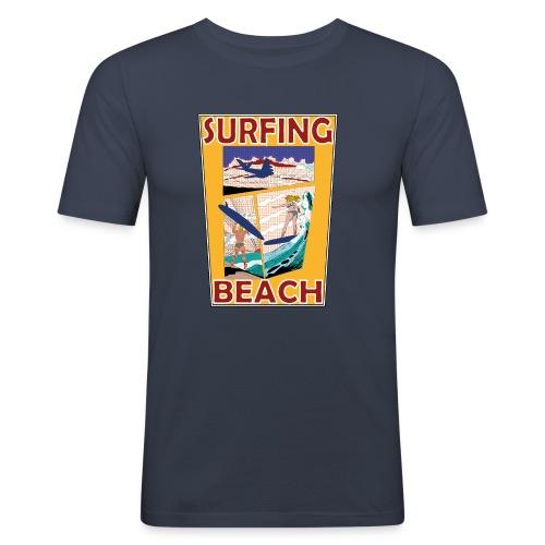 Surfing beach comic Urlaub t-shirt - Männer Slim Fit T-Shirt