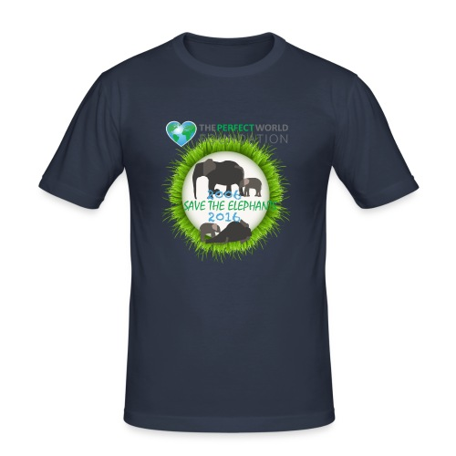 Save the elephant - Erik - Slim Fit T-shirt herr
