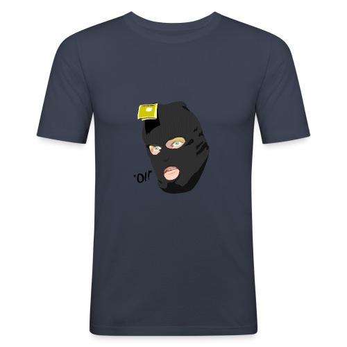 BLACK_CONDOM_SHIRT_PIC_1 - Slim Fit T-skjorte for menn