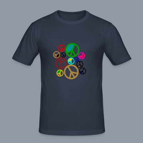 Peace, Peace, Peace - Männer Slim Fit T-Shirt