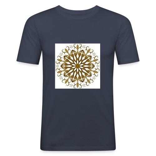 gold-filigree - Männer Slim Fit T-Shirt