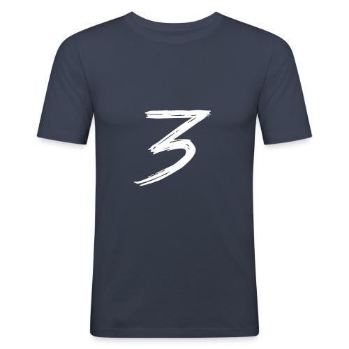 3 Logo - Maglietta aderente da uomo