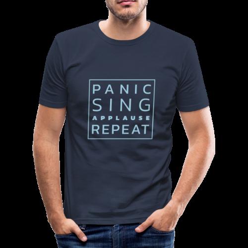 Panico - Canta - Applausi - Ripeti - Maglietta aderente da uomo