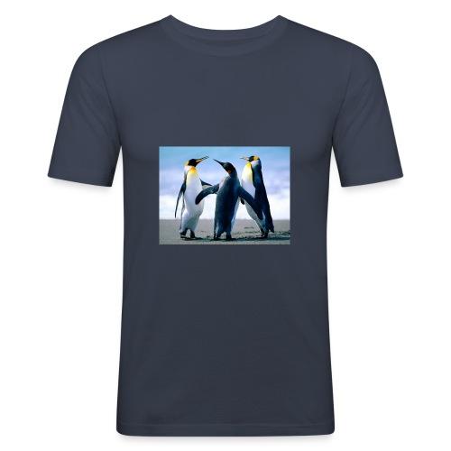 Penguins - Männer Slim Fit T-Shirt