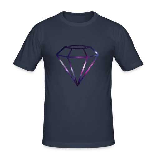 Galaxy Diamond - Slim Fit T-skjorte for menn