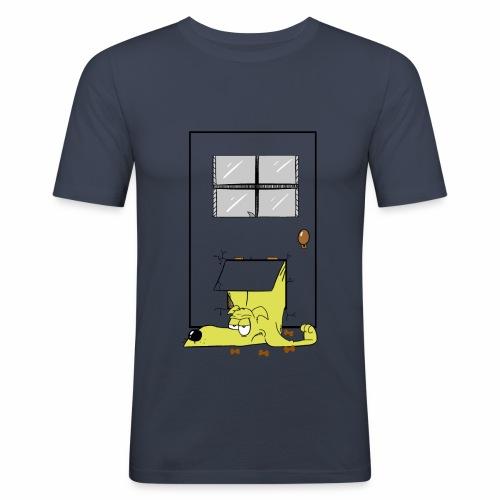 Stuck in a door dog - Men's Slim Fit T-Shirt