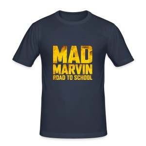Mad Marvin: Road To School - Men's Slim Fit T-Shirt