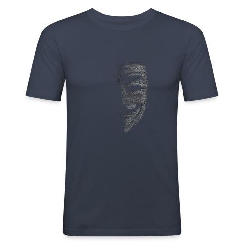 V de vendetta | Mascara Hackers - Camiseta ajustada hombre