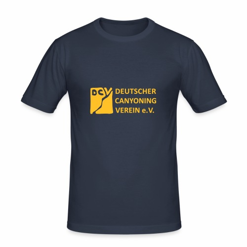 DCV Logo einfarbig - Männer Slim Fit T-Shirt